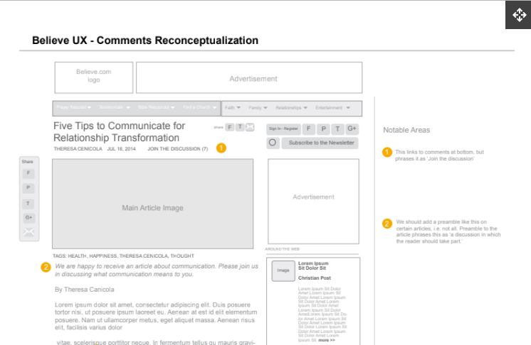 Believe.com Comments Reconceptualization
