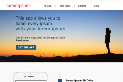 UX/UI - Mobile App Landing Page