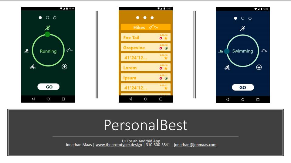 UI - Personal Best