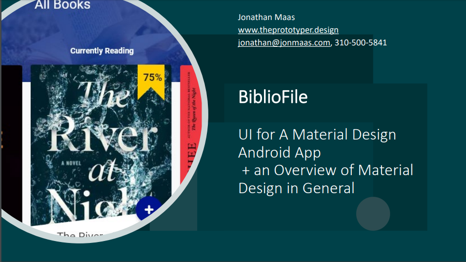 UI - BiblioFile - A Google Material Design Android App