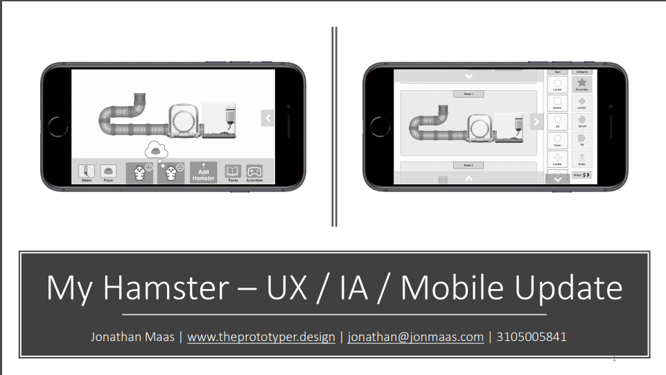 My Hamster – UX / IA / Mobile Update